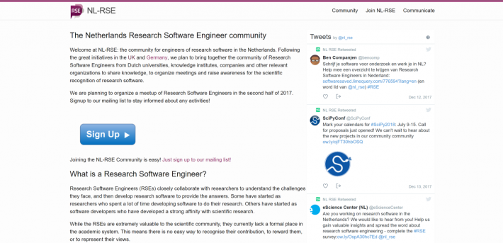 Introducing NL-RSE: Bootstrapping the community of Research