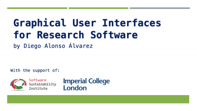 """Graphical user interfaces for Research Software"""