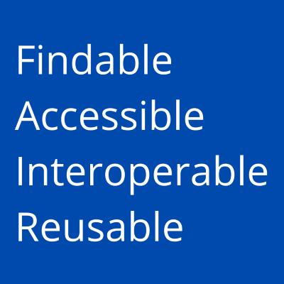 FAIR: Findable, Accessible, Interoperable, Reusable