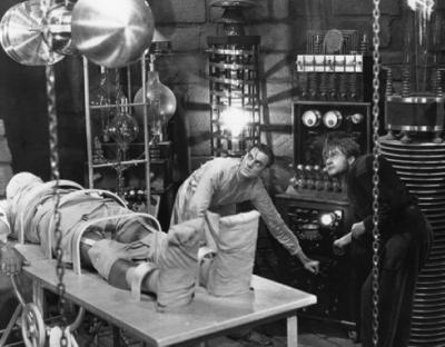 A scene from the 1931 movie version of Mary Shelley's Frankenstein