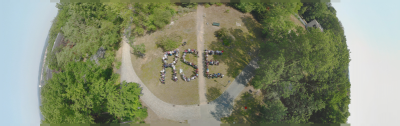 Image of people spelling out RSE taken from above