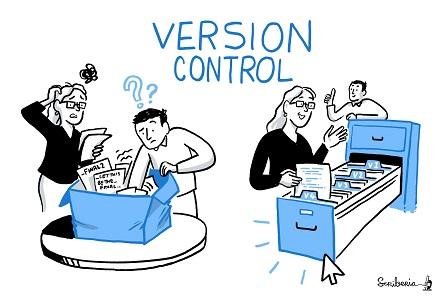 version control cartoon
