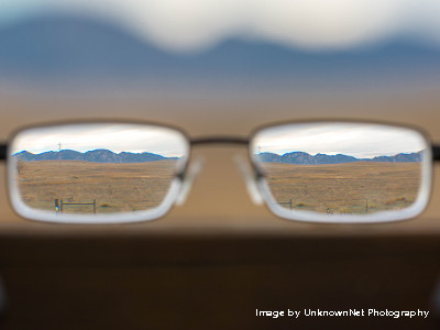 A view through my glasses. Image by UnknownNet Photography. https://flic.kr/p/rFgD9r