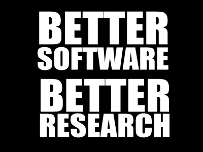 Better Software Better Research