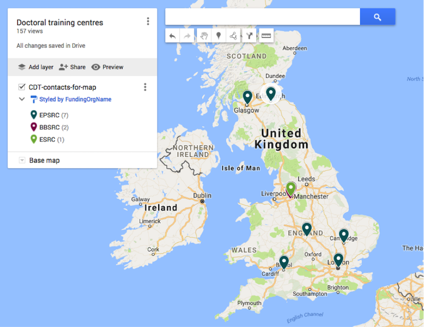 Generating Google maps out of Google spreadsheets | Software