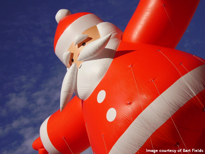 Photo of inflatable Santa by Bart Fields