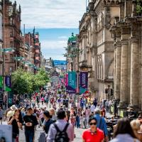 Glasgow shopping street