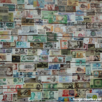 Money bills as wallpaper